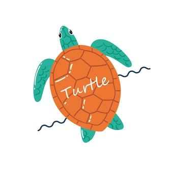 Illustration de natation de tortue