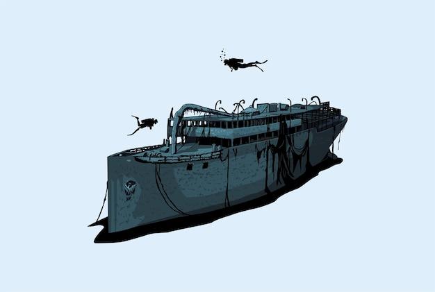 Illustration de naufrage
