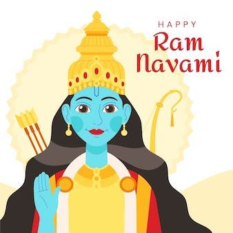 Illustration de navami ram dessiné à la main