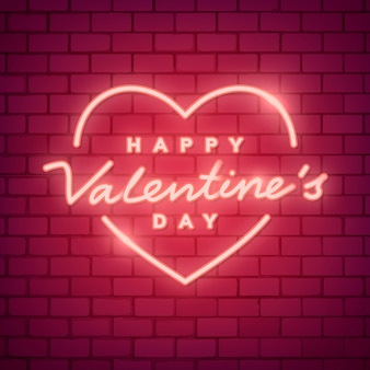 Illustration de néon saint valentin