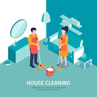 Illustration de nettoyage isométrique