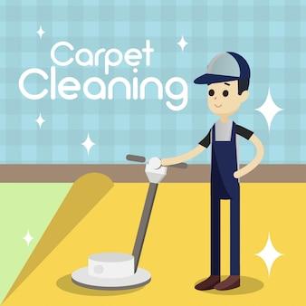 Illustration de nettoyage de tapis