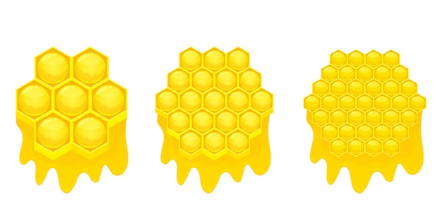 Illustration en nid d'abeille sur fond blanc