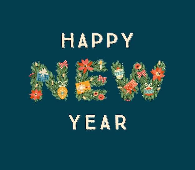 Illustration de noël et bonne année