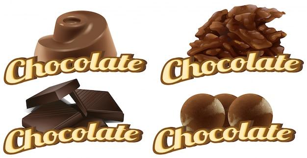 Illustration de nombreux types de chocolats