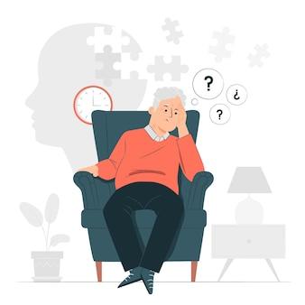 Illustration de la notion d'alzheimer