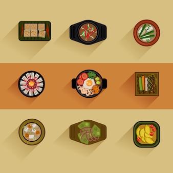 Illustration de la nourriture cuisine coréenne