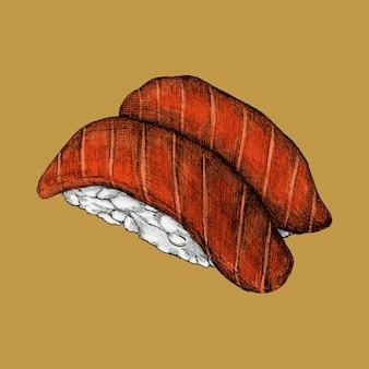 Illustration de la nourriture japonaise