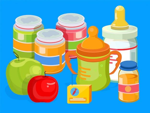 Illustration de nourriture pour bébé