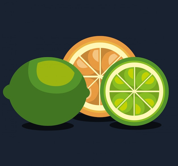 Illustration de la nourriture saine