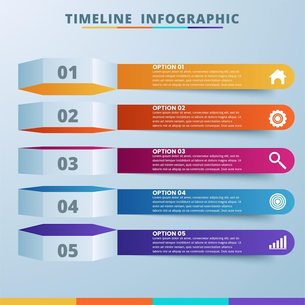 Illustration numérique 3d abstraite infographie