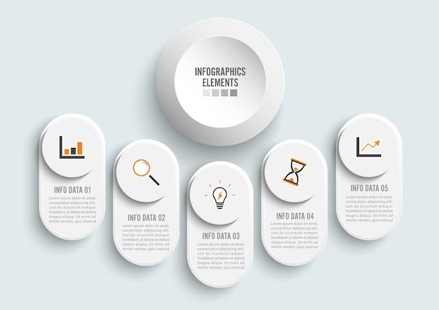 Illustration numérique abstraite infographie.