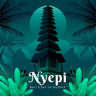 Illustration de nyepi dégradé