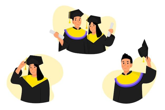Illustration de l'obtention du diplôme