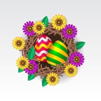 Illustration de l'oeuf de pâques coloré décoratif