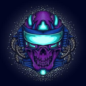 Illustration de l'oeuvre de crâne de robot betta