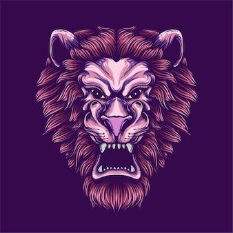Illustration d'oeuvre de lion