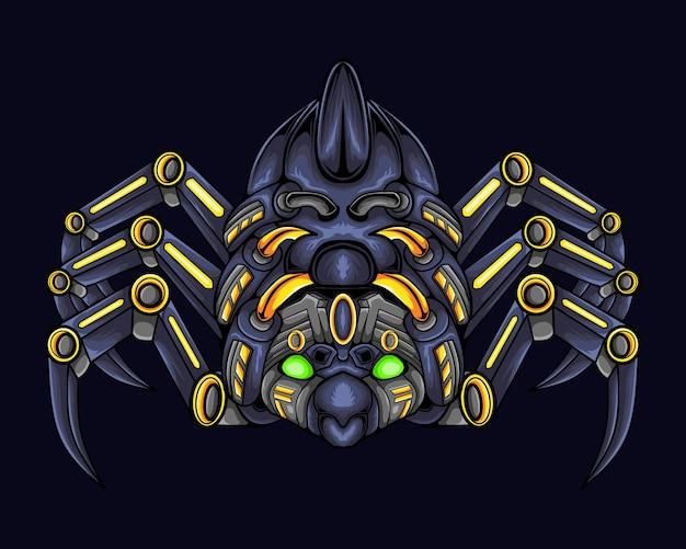 Illustration d'oeuvre de robot araignée. robot animalier