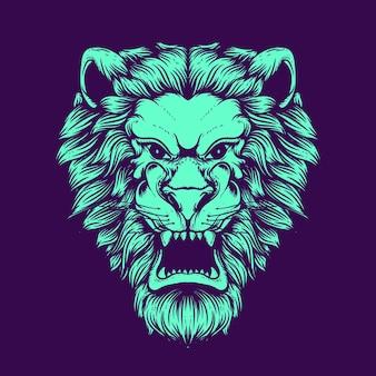 Illustration d'oeuvre de tête de lion