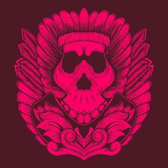 Illustration de l'œuvre de la tribu du crâne