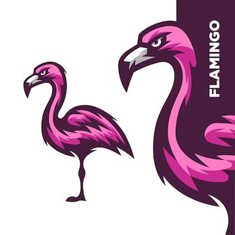 Illustration d'oiseau flamant rose