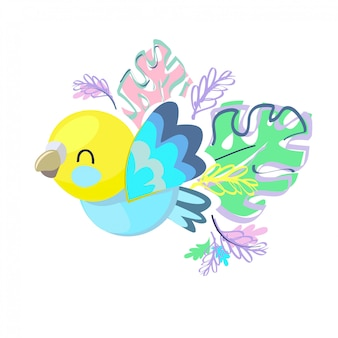 Illustration d'oiseau mignon.