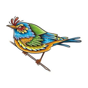 Illustration de l'oiseau starling abstrait.
