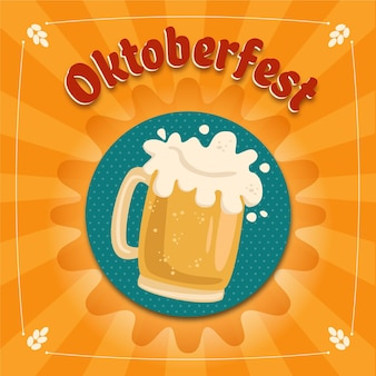 Illustration de l'oktoberfest design plat