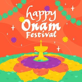 Illustration de onam coloré heureux