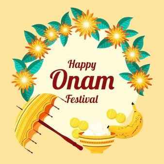 Illustration de l'onam indien
