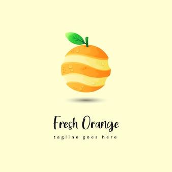 Illustration orange fraîche