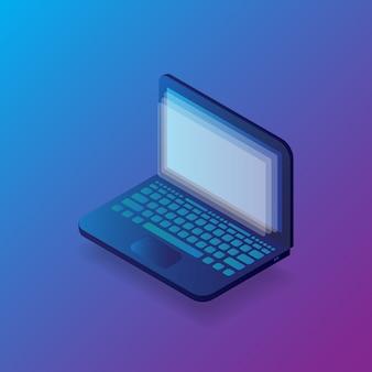 Illustration d'ordinateur portable isométrique