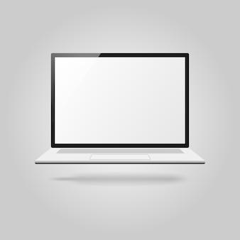 Illustration de l'ordinateur portable. symbole de gadget avec des regards réalistes.
