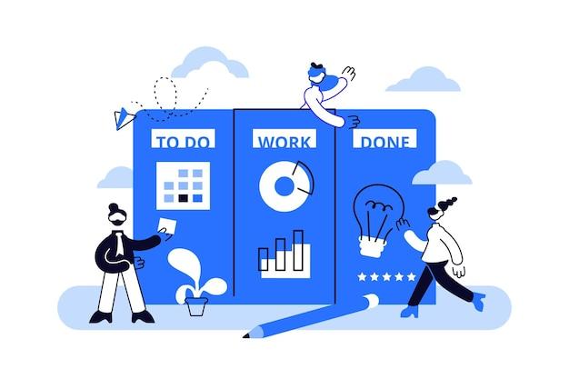 Illustration de l'organisation du flux de travail