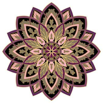 Illustration d'ornement élégant coloré