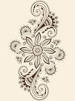 Illustration de l'ornement mehndi