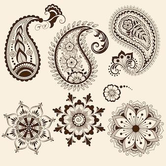 Illustration de l'ornement mehndi