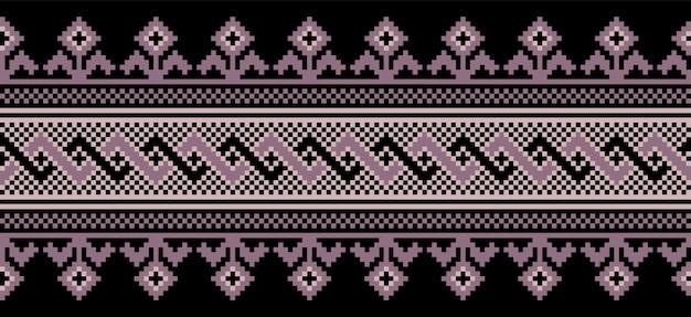 Illustration de l'ornement de modèle sans couture folk ukrainien.
