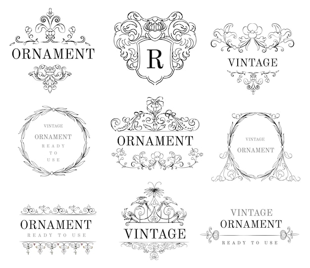 Illustration d'ornement vintage s'épanouir