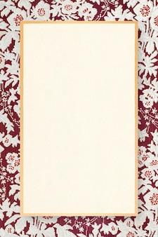 Illustration ornementale de cadre de motif floral rouge