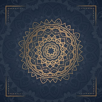 Illustration ornementale de luxe mandala ornement
