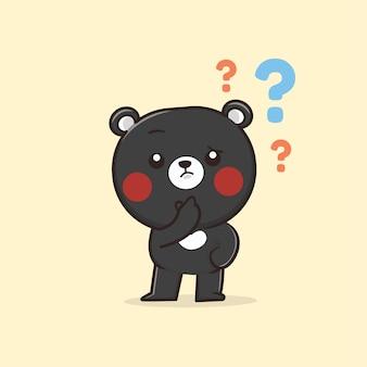 Illustration de l'ours animal mignon