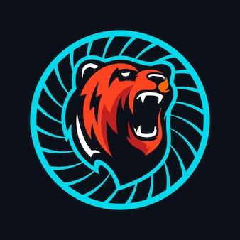 Illustration d'ours en colère vecteur premium