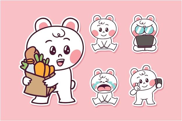 Illustration d'ours de dessin animé