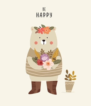 Illustration d'ours mignon