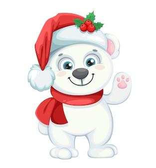 Illustration de l'ours polaire de noël