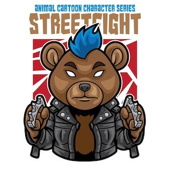 Illustration de l'ours punk