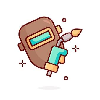 Illustration d'outils de soudage