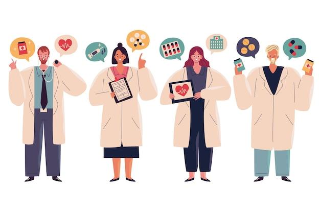 Illustration de pack de pharmacien