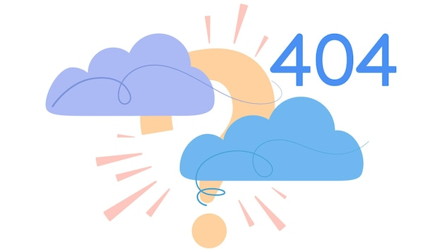 Illustration de la page d'erreur 404 pour les applications mobiles web